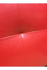 Black and Red Faux Leather Headboard - Full