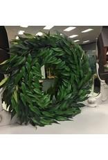 "Pure Garden Ficus Microphylla Leaf Polyester 22"" Wreath"