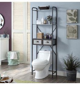 Gracie Oaks Dark Silver Railey Over the Toilet Storage