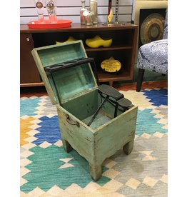 Vintage Shoe Shine Box - Teal