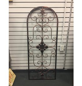 Fleur De Lis Living Arched Metal Wall Decor