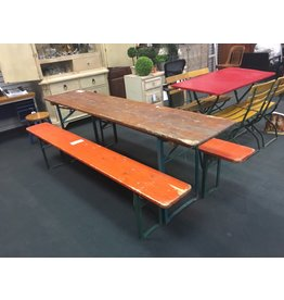 German Beer Garden Folding Table w 2 Benches