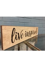 Live Inspired Engraved Sign, 2'