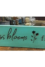 """Happiness Blooms Engraved Sign 18"""""""