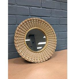 Winston Porter Badis Round Polyresin Accent Wall Mirror