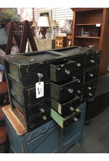 Black Painted Military Chest