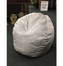 Zipcode Design Diamond Weave Silver Bean Bag Chair
