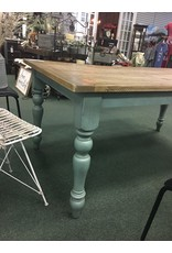Two Tone Farmhouse Dining Table