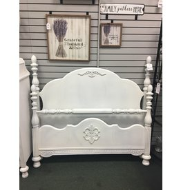 Antique White Painted Bed - Full