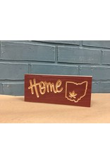 Red Engraved Home Ohio Sign