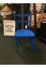 Child Size Blue Painted Chair