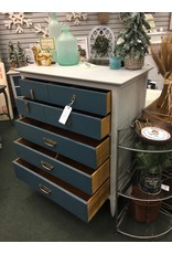 Two Tone 5 Drawer Chest of Drawers