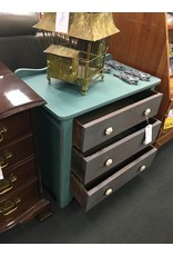Antique 3 Drawer Bachelors Chest w Two Tone Finish