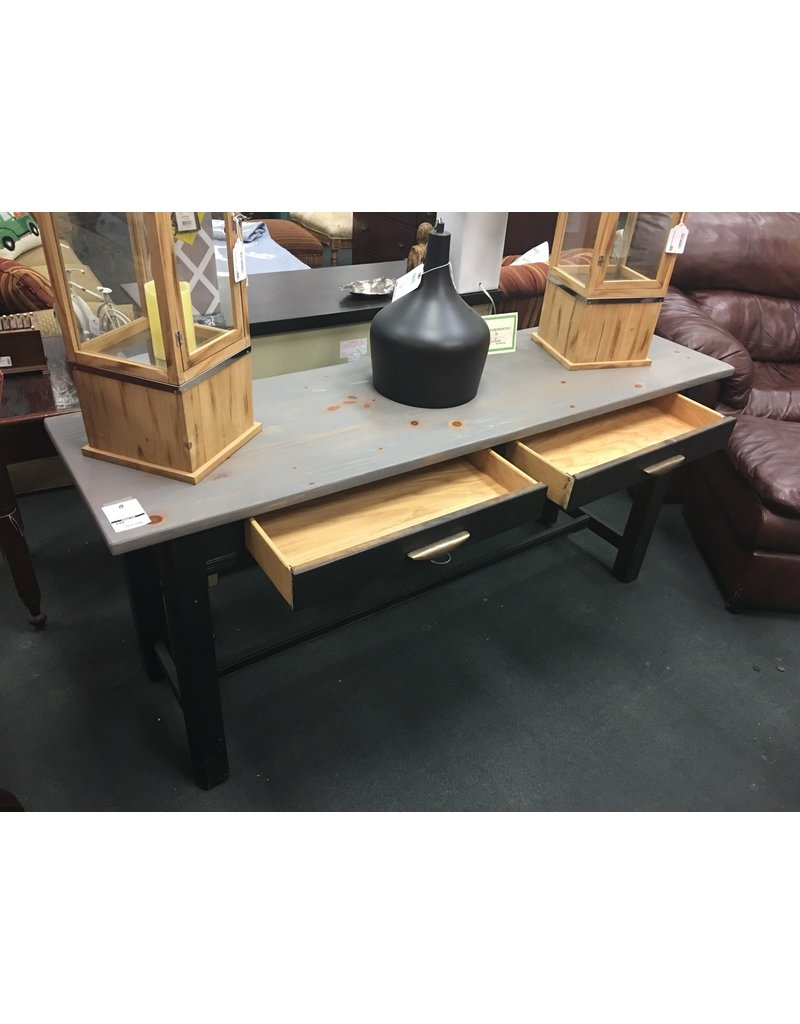 Lane Black and Gray 2 Drawer Console Table by Lane