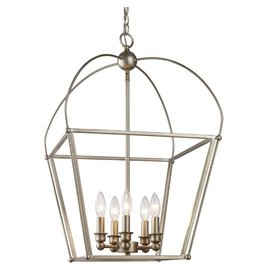 Laurel Foundry Modern Farmhouse Merry 5-Light Lantern Geometric Pendant