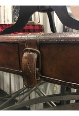 Leather Luggage Console Table