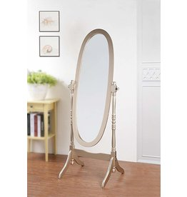 Gold Oval Freestanding Mirror