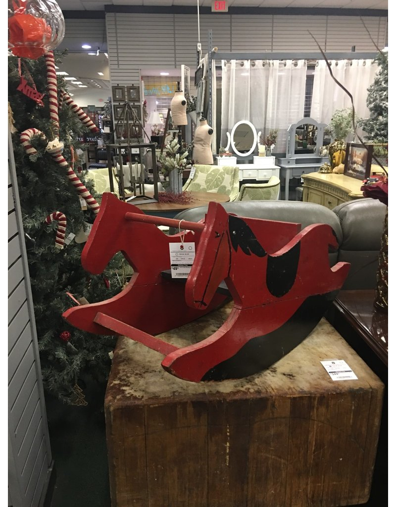 Child's Red Rocking Horse