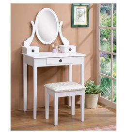 Small White Vanity w Stool