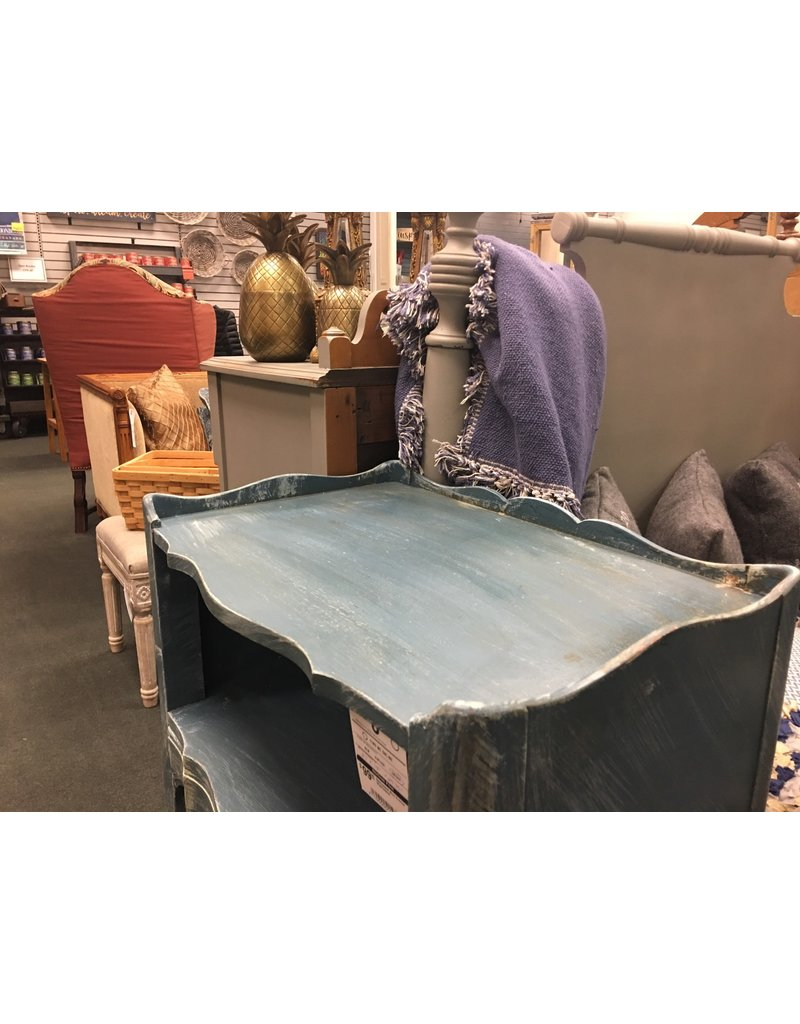 Distressed Blue French Nightstand