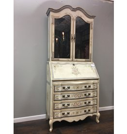 French Style Secretary w Hutch Top