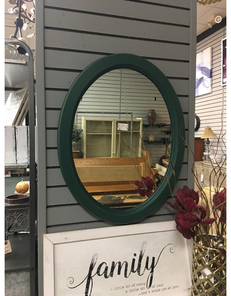 Westminster Green Oval Wall Mirror