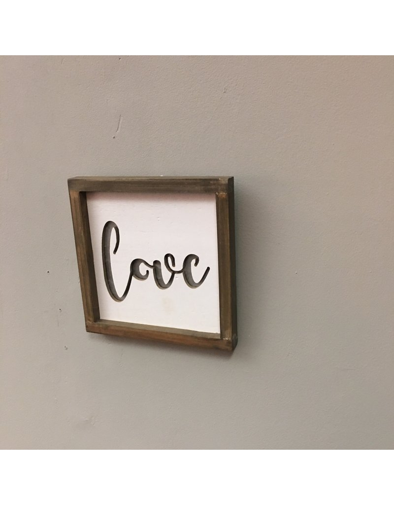 Framed Metal Cutout Love Sign