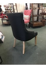 Dark Gray Curved Dining Chair
