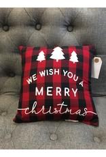 Merry Christmas Buffalo Pillow