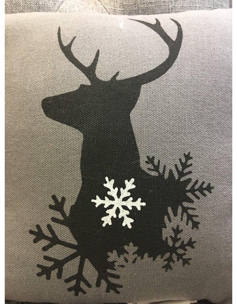 Winter Reindeer Pillow