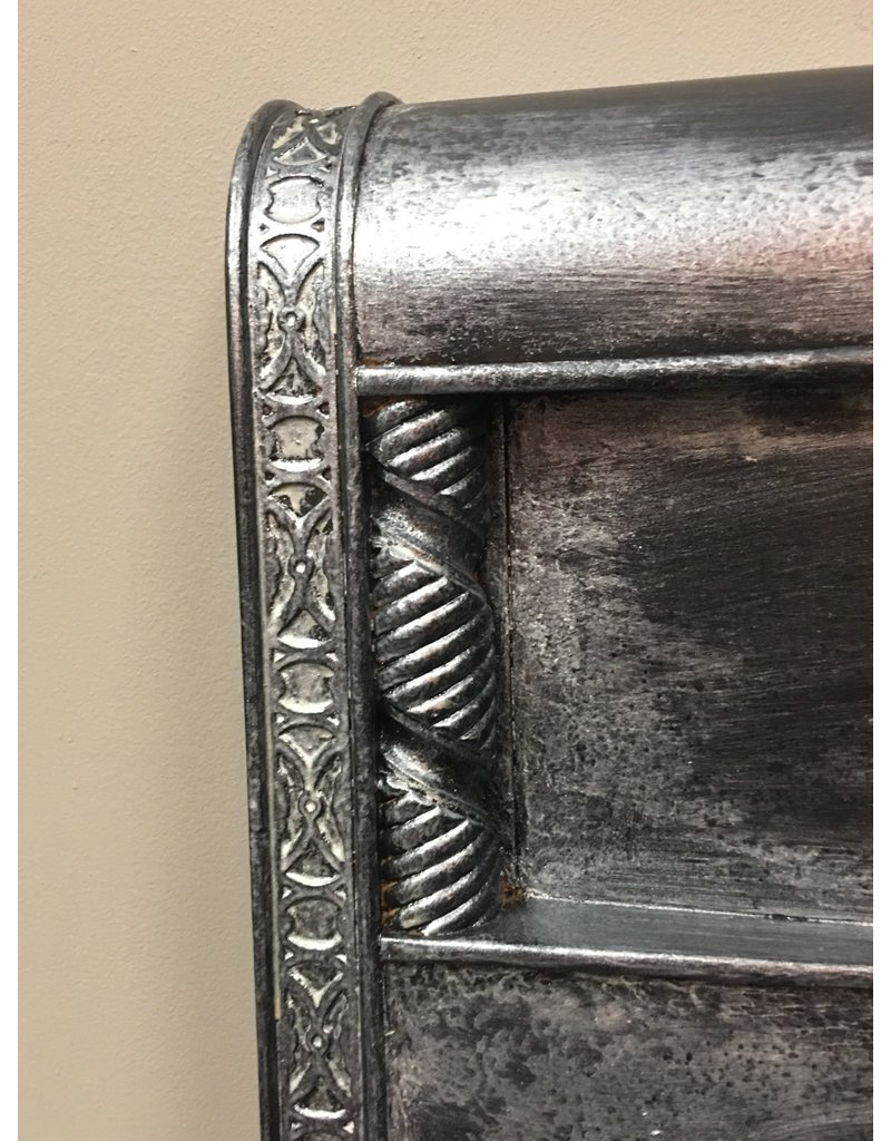 Ornate Metallic Waterfall Style Bed - Full