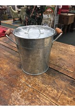 Galvanized Ice Bucket Set