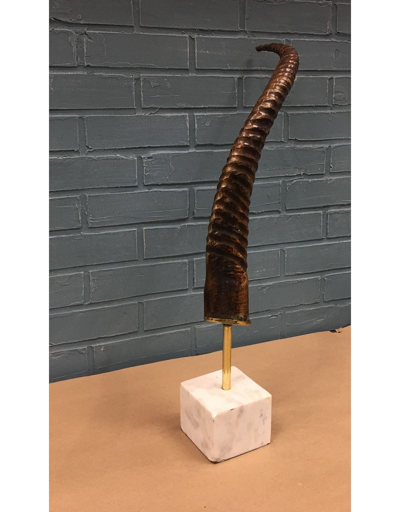 Natural Horn on Marble Stand