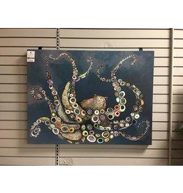 Beachcrest Home 'Octopus in the Deep Blue Sea' by Eli Halpin