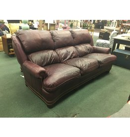 Austin Leather Sofa by Hancock and Moore