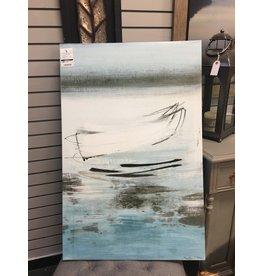 East Urban Home Blue 'Canoe' Painting Print on Canvas