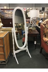 White Oval Freestanding Mirror