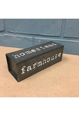 Farmhouse Four-Sided Metal Block