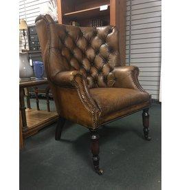 Aged Leather Cigar Armchair