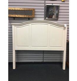 White Panel Headboard - Queen