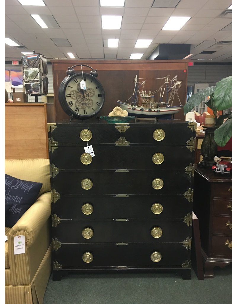Black Asian Style Campaign Chest
