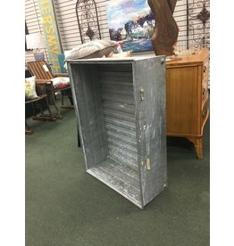 Large Galvanized Crate