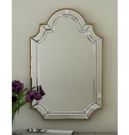 Willa Arlo Interiors Ekaternia Arch/Crowned Top Champagne Mirror