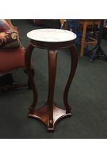 Mahogany Marble Top Plant Stand