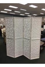 White Giyano 4 Panel Screen