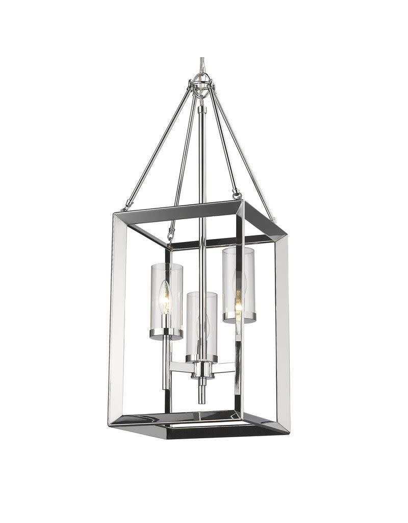 Three Posts Thorne 3-Light Chrome Foyer Pendant