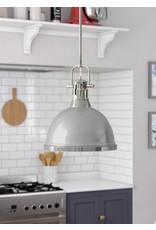 Beachcrest Home Bodalla 1-Light Single Dome Pendant - Chrome