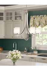 Andover Mills Agnes 5-Light Shaded Chandelier - Satin Nickle