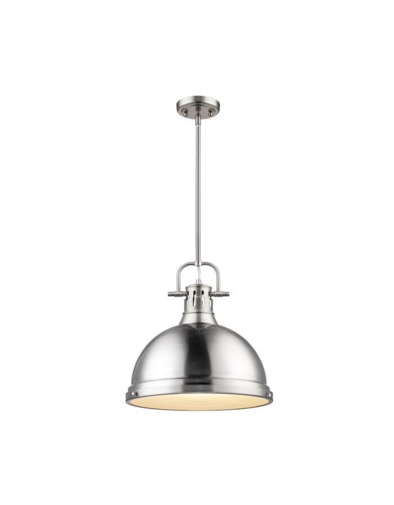 Beachcrest Home Bodalla 1-Light Single Dome Pendant - Pewter