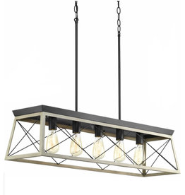 Laurel Foundry Modern Farmhouse Delon 5-Light Kitchen Island Pendant